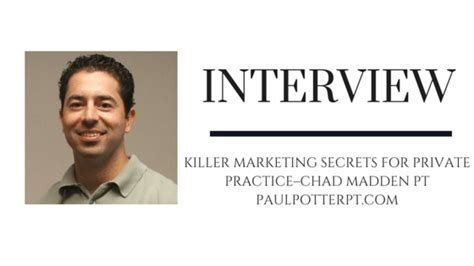 Killer Marketing Secrets For Private Practice–chad.