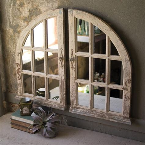 Kalalou Arched Window Mirrors - Set Of 2   Modish Store.