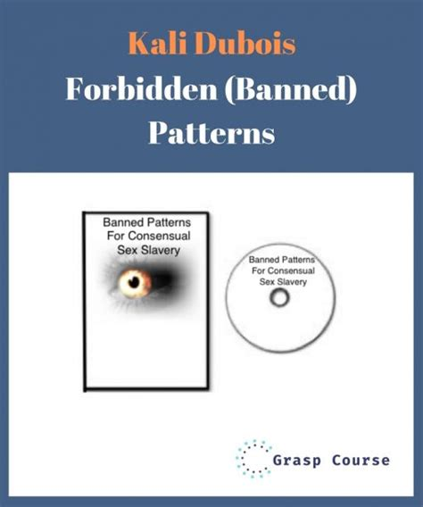 @ Kali Dubois   Forbidden Banned Patterns - Senselearn .