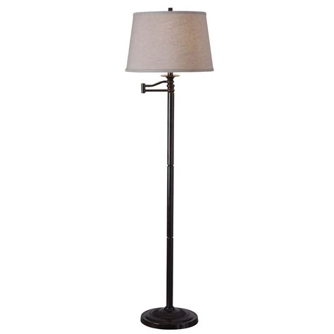 Kenroy Home 32215cbz Riverside Swing Arm Floor Lamp Copper Bronze Finish.