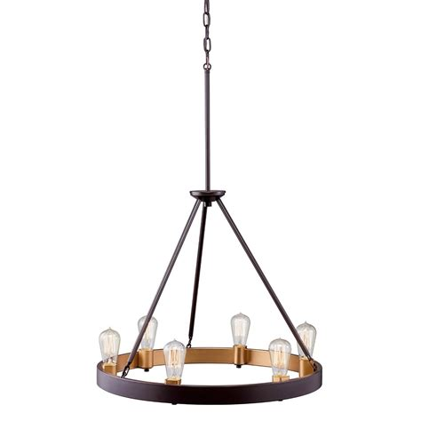 Kichler 6-Light Down Pendant Olde Bronze 106.