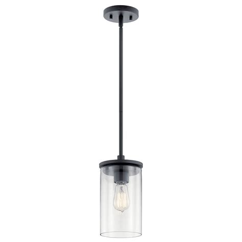 Kichler Lighting Crosby 1-Light Mini Pendant With Clear .