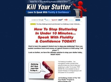 @ Kill Your Stutter - Learn To Speak Without Stuttering Today.