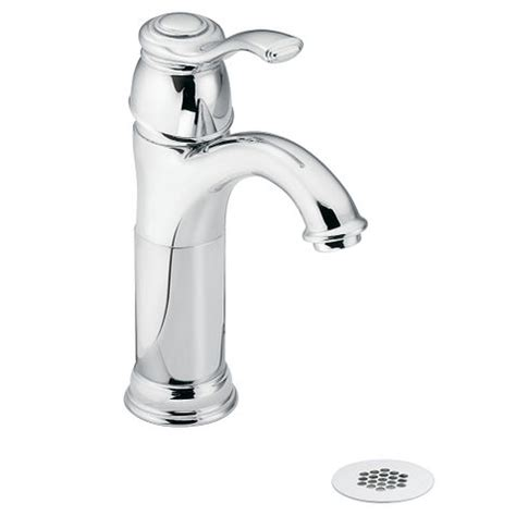 Kingsley Chrome One-Handle Low Arc Bathroom Faucet - Moen Com.