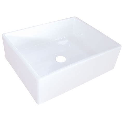 Kingston Brass Ev4158 White China Vessel Bathroom Sink .