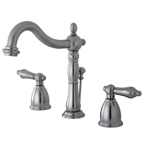 Kingston Brass Kc7161bpl Widespread Lavatory Faucet With .