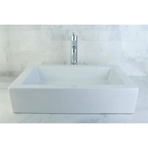 Kingston Brass Pacifica White Vessel  - Lowes Com.