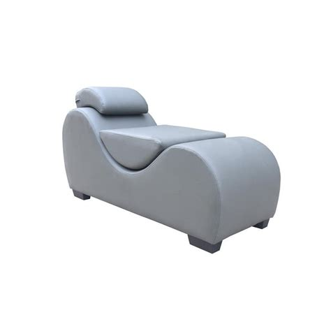 Kingway Vyunskovsky Faux Leather Yoga Chaise Grey .