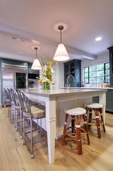 Kitchen Island Design With Seating On The End