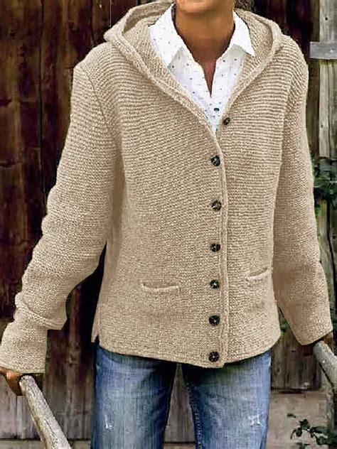 Knit Sweater Jackets Women