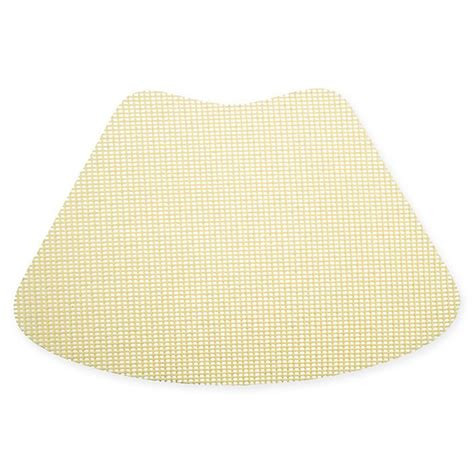Kraftware Fishnet Wedge Placemat In Lemon Set Of 12 .
