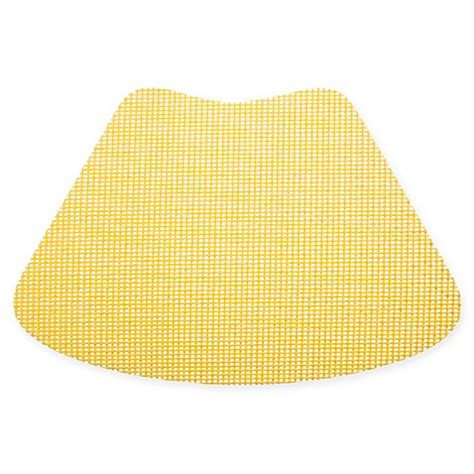 Kraftware Fishnet Wedge Placemat In Yellow Set Of 12 .