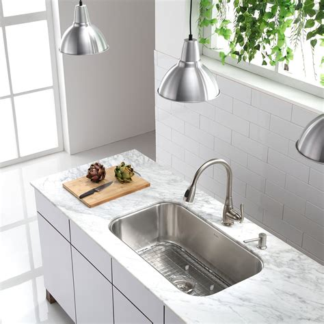Kraus Undermount Single Bowl Stainless Steel Kitchen Sink .