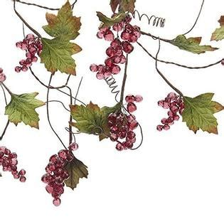 Kurt S Adler Kurt Adler Grape Beaded Vine Garland 4-Feet .