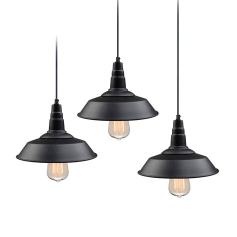 Lnc 3-Pack Black Pendant Lighting Indoor Pendant Lights .