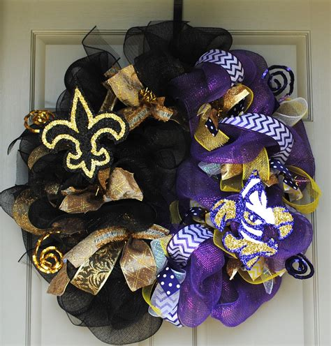 Lsu Saints Wreath By Gaudy Girl Designs  My Wreaths .