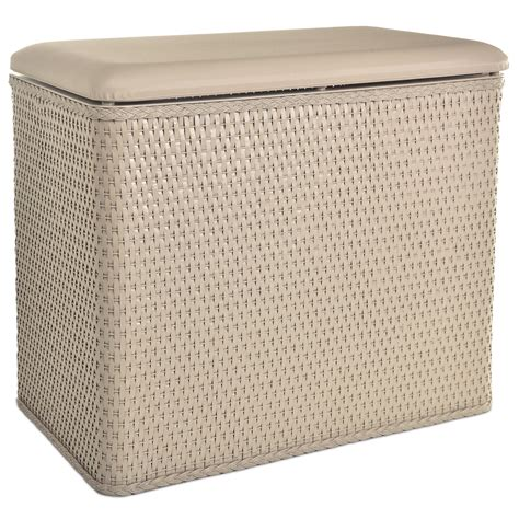 Lamont Home Carter Bench Wicker Laundry Hamper With .