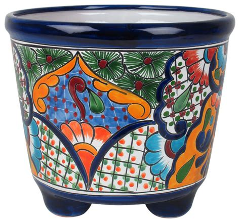 Large Footed Mexican Talavera Pottery Planter In 2019 .