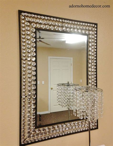 Large Rectangle Metal Wall Crystal Jewel Mirror Rustic .