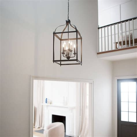 Larkin  6 Light Foyer Pendant Olde Bronze   Kichler Lighting.