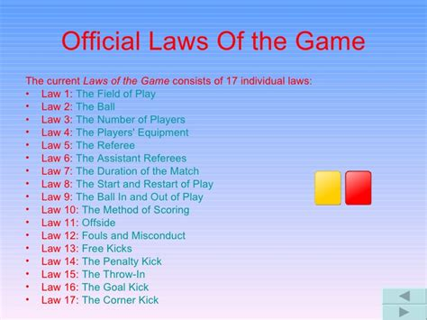 Laws Of The Game - Football Association.