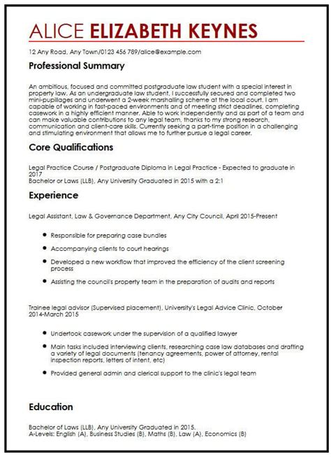 Lawyer Cv Examples Uk