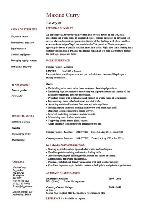 Lawyer Cv Uk