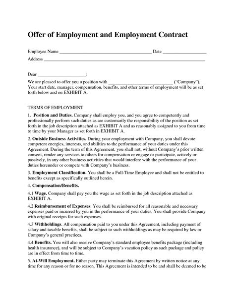 Lawyer Employment Contract Sample