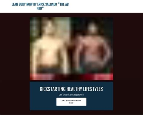 [click]lean Body Now By Erick Salgado The Ab Pro   Health And