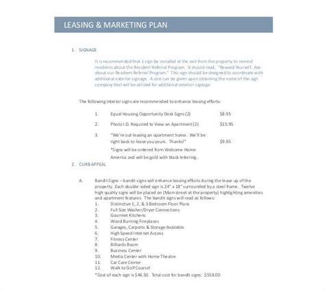 [pdf] Lease Marketing Plan For Property Management.