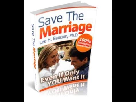 Lee Baucoms Save The Marriage System Review - Does It Work?.