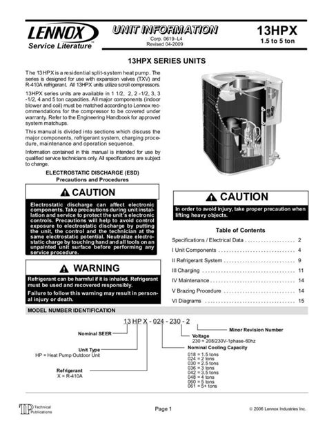 [pdf] Lennox Air Conditioner Repair Manual - Destakes Com.