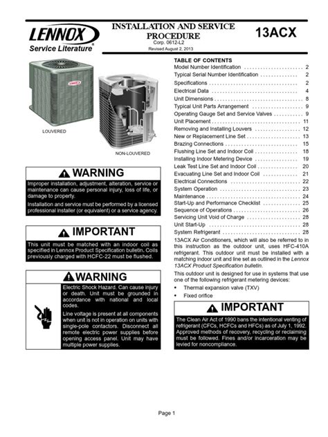 [click]lennox Air Conditioner Repair Manual - Destakes Com.