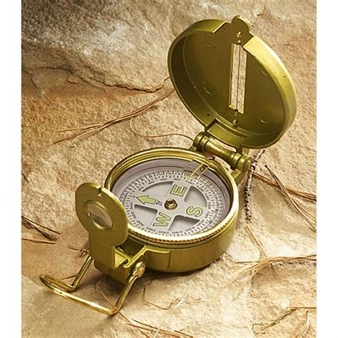 Lensatic Compass - Liquid - Stansport Com.