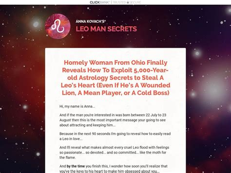 [click]leo Man Secrets Review  Zodiac Attraction And Seduction .