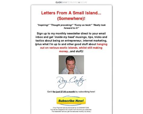 [click]letters From A Small Island Newsletter.