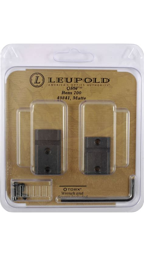 Leupold Quick Release Weaver Style Two-Piece Qrw Bases .