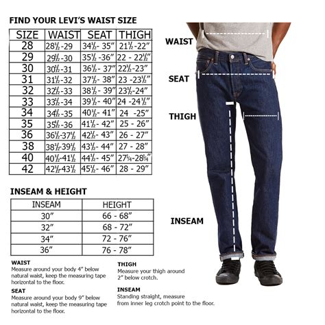 Levis® Size Chart - Size Guide For Men, Women And Kids Levis® Us.