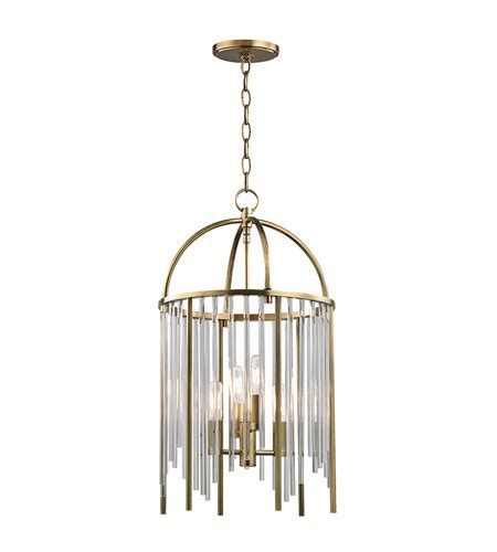 Lewis 4 Light Pendant Light - Aged Brass  2512-Agb .