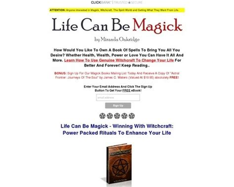 @ Life Can Be Magick -- Winning With Witchcraft.