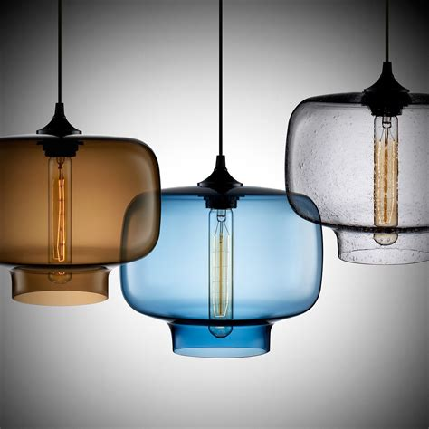 Lightingworld Contemporary Pendant Light With Glass And .