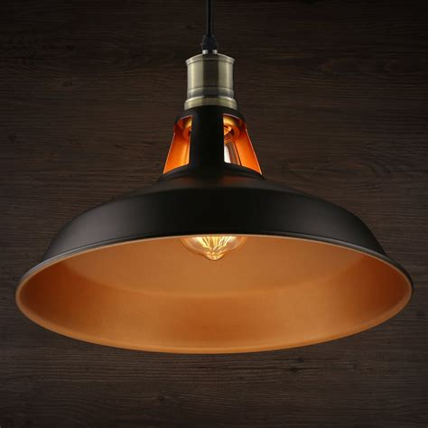 Lightingworld Industrial Pendant Light Black Metal Antique .