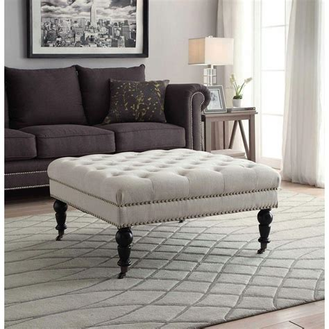 Linon Home Decor Isabelle Natural Accent Ottoman .