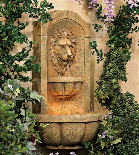 Lion Wall Fountain - Sears Com.