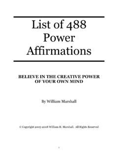 [pdf] List Of 488 Power Affirmations - Meetup