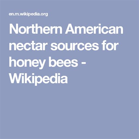 @ List Of Northern American Nectar Sources For Honey Bees .