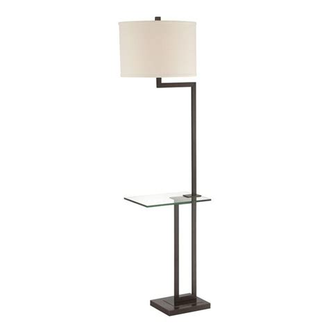 Lite Source Rudko Dark Bronze Gallery Tray Lamp With Drum .