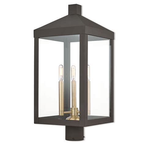 Livex Lighting Nyack Bronze 11 Inch Three Light Outdoor .