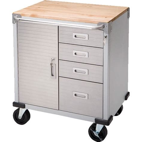 Lockable Rolling Storage Cabinet