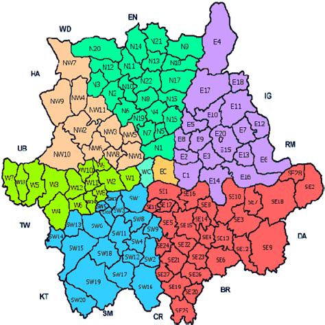 London District Codes